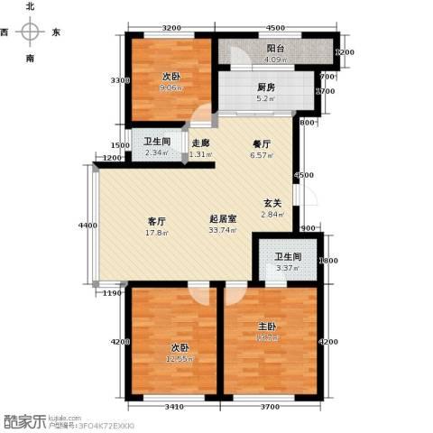 诺睿德国际商务广场3室0厅2卫1厨128.00㎡户型图