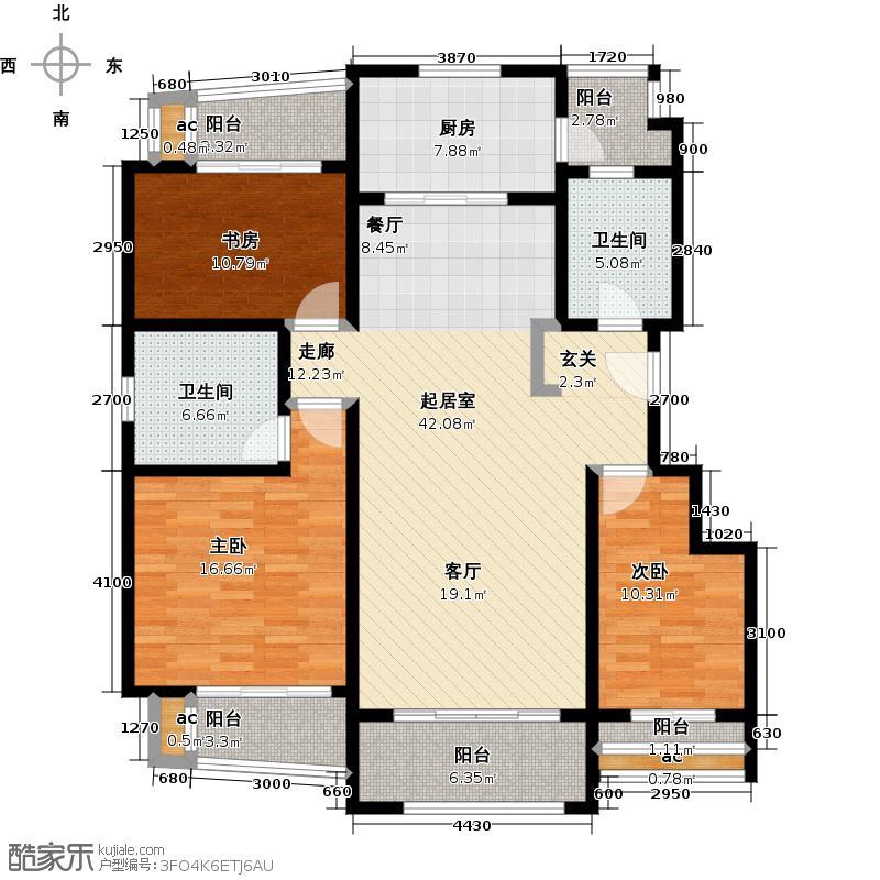 梧桐公馆139.00㎡D户型3室2厅2卫