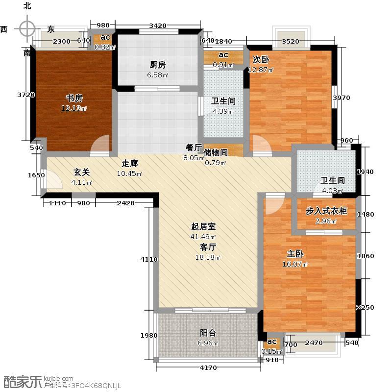 宝怡大厦127.98㎡C户型3室2厅1卫