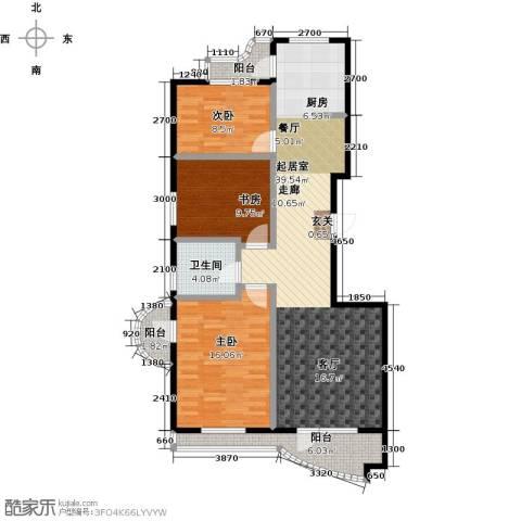 热岛黄金海岸3室0厅1卫0厨125.00㎡户型图