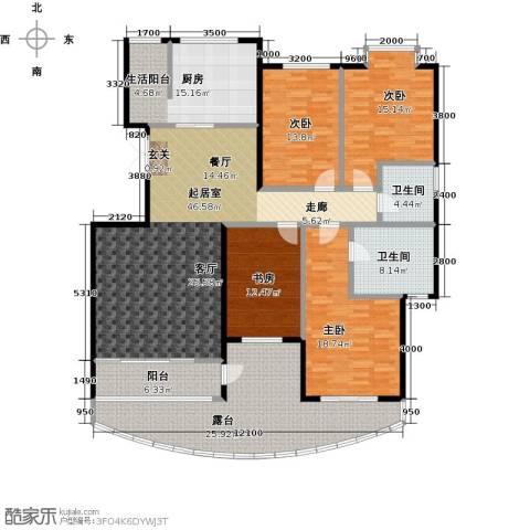 鼎泰翠湖山4室0厅2卫1厨189.00㎡户型图