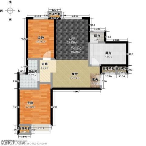 宝龙花苑2室0厅1卫1厨92.00㎡户型图