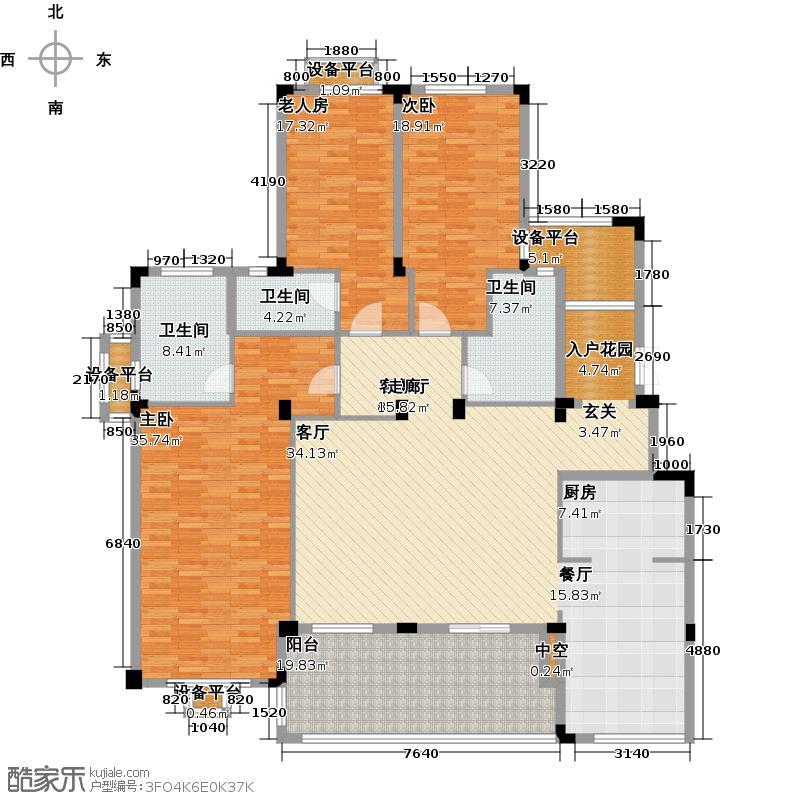 保利蓝海郡223.00㎡保利蓝海郡E1-1户型3室2厅2卫1厨户型3室2厅2卫