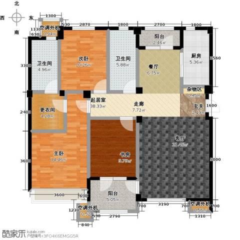 连海金源3室0厅2卫1厨140.00㎡户型图