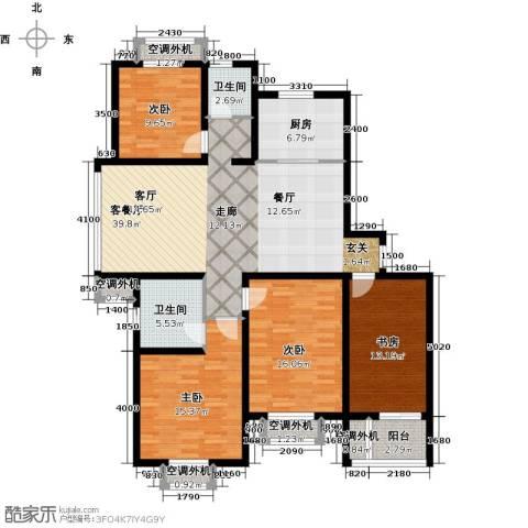 高尔夫国际花园4室1厅2卫1厨186.00㎡户型图