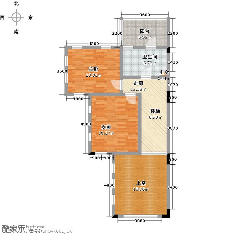 中国美林湖时光小筑TH4型-A首层户型2室1卫
