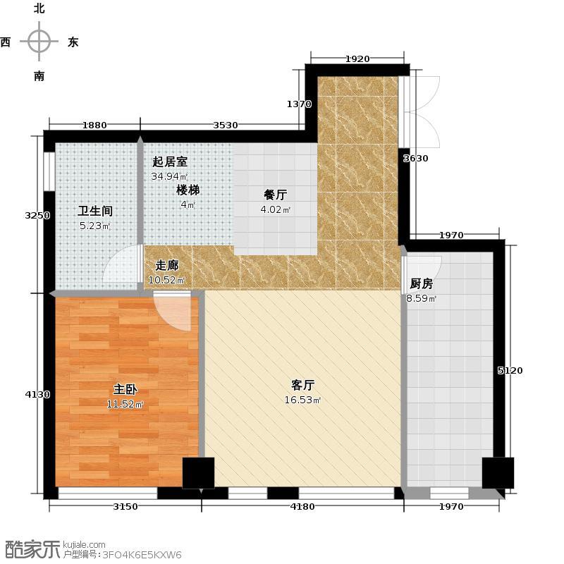 林肯公寓D层平面图下户型