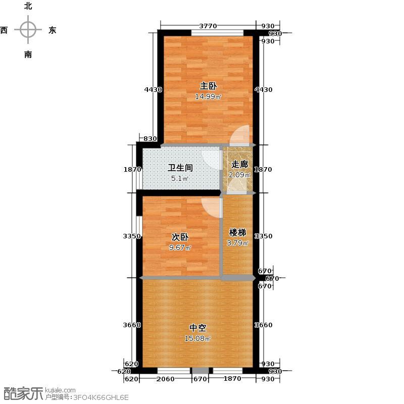 林肯公寓H夹层平面图上户型