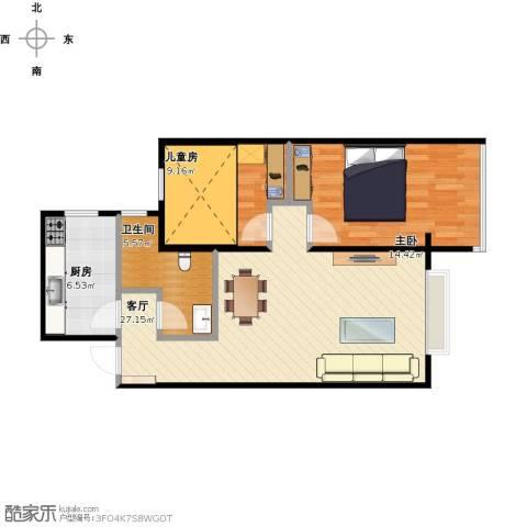 华安欣诚家园2室1厅1卫1厨86.00㎡户型图