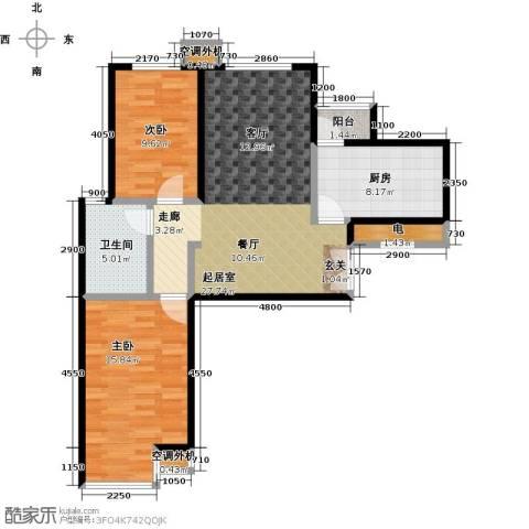 宝龙花苑2室0厅1卫1厨100.00㎡户型图