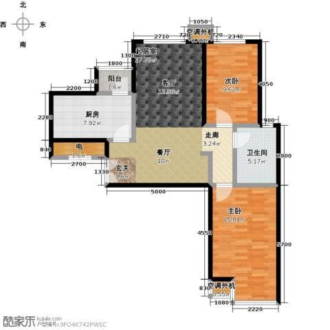 宝龙花苑2室0厅1卫1厨101.00㎡户型图