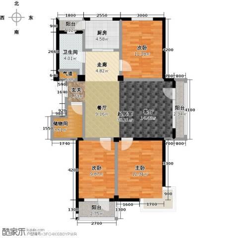 郁林海景花园3室0厅1卫1厨114.00㎡户型图