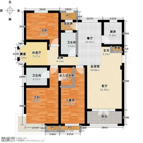 世茂生态城3室0厅2卫1厨143.00㎡户型图