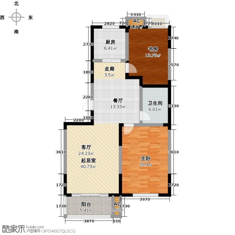 厚德森林国际106.00㎡AD2室2厅1卫1厨户型