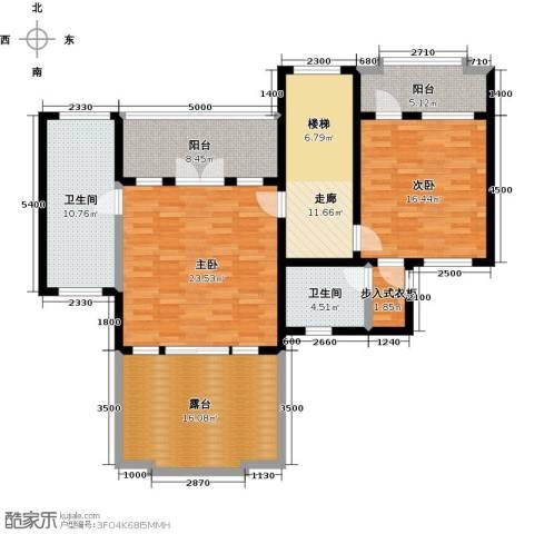 滨海湖2室0厅2卫0厨98.40㎡户型图