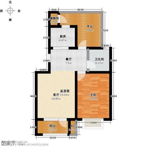 国际城月伴湾1室0厅1卫1厨69.00㎡户型图