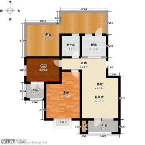 国际城月伴湾2室0厅1卫1厨97.73㎡户型图