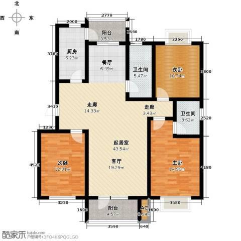 国际城月伴湾3室0厅2卫1厨137.00㎡户型图