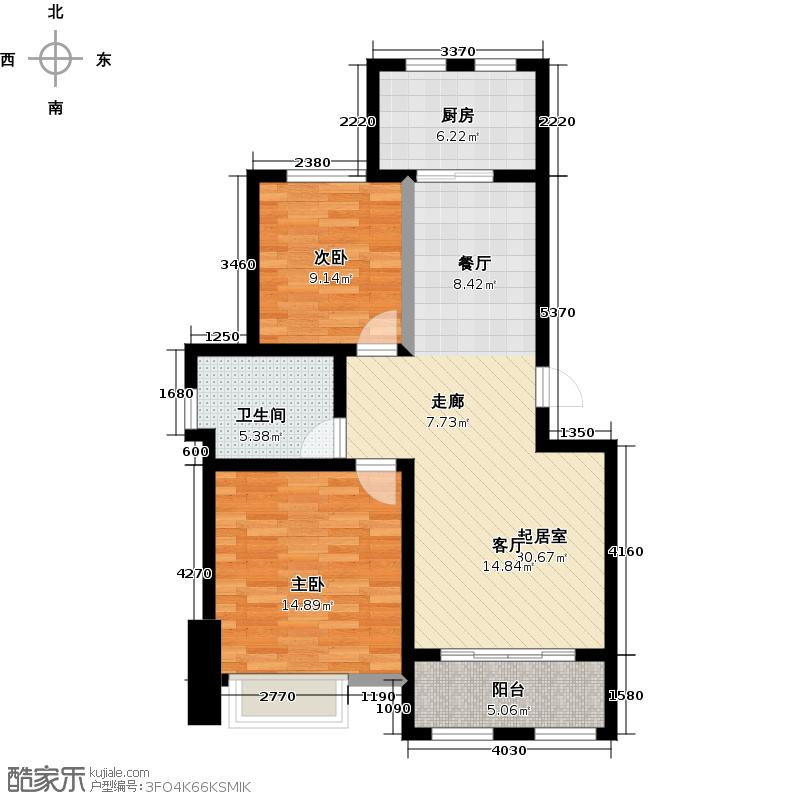 崂山水岸枫景83.00㎡崂山水岸枫景83.00㎡2室2厅1卫户型2室2厅1卫