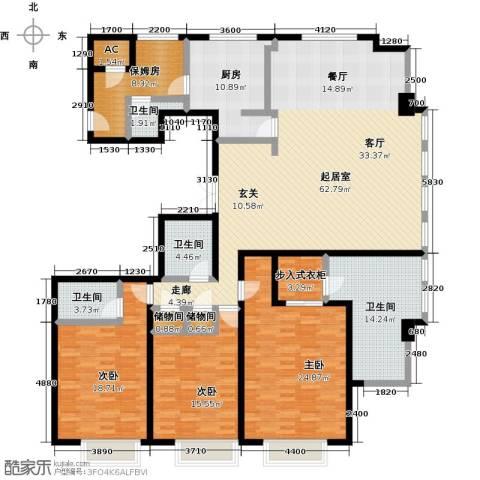 津澜阙3室0厅4卫1厨253.00㎡户型图