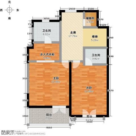 滨海湖2室0厅2卫0厨125.00㎡户型图