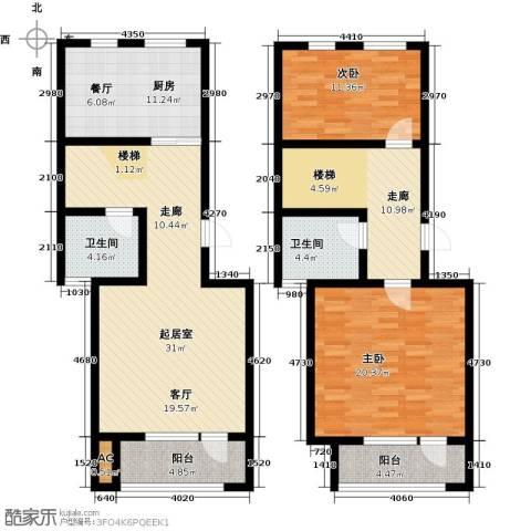 国际城月伴湾2室0厅2卫1厨135.00㎡户型图