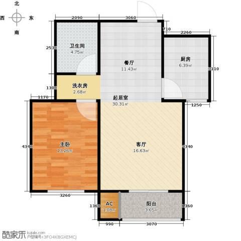 青城1室0厅1卫1厨64.00㎡户型图
