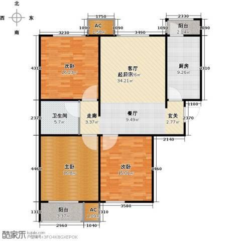 青城3室0厅1卫1厨113.00㎡户型图