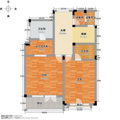 滨海湖2室0厅2卫0厨132.00㎡户型图