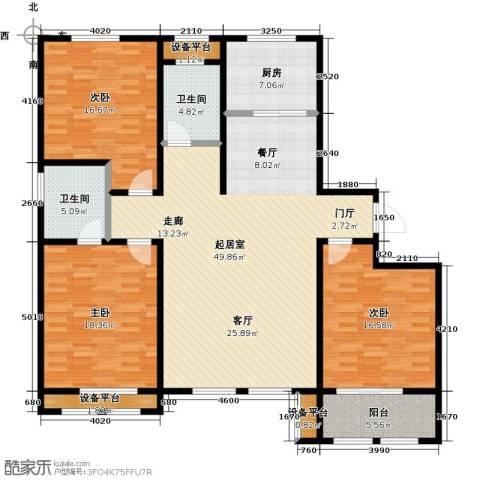 明佳花园3室0厅2卫1厨179.00㎡户型图