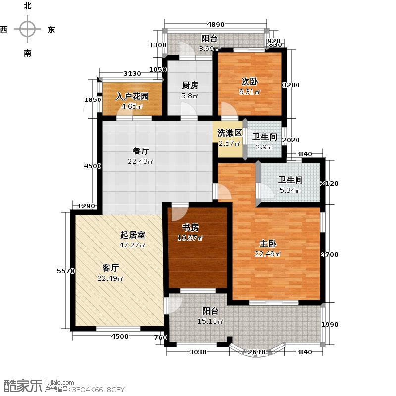 青特花溪地150.00㎡平层HOUSE B1-2户型3室2厅2卫