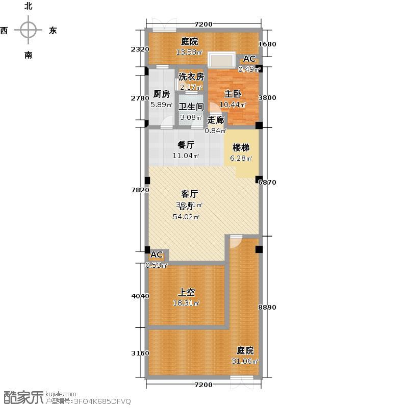 福星惠誉东澜岸163.00㎡A1户型 一层 3室2厅3卫户型3室2厅3卫