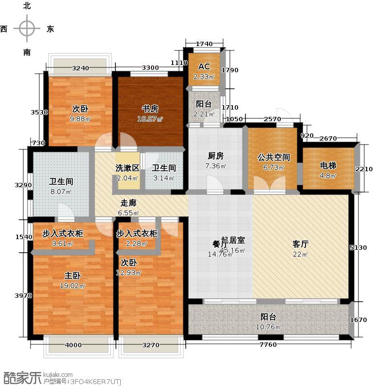 万科蓝山199.00㎡万科蓝山199.00㎡4室2厅2卫户型4室2厅2卫