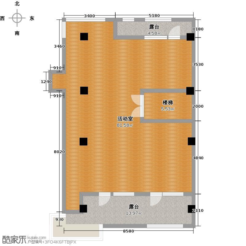 福星惠誉东澜岸166.00㎡C2户型 平台 3室2厅3卫户型3室2厅3卫