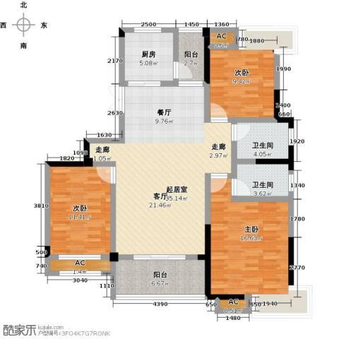 御景华府3室0厅2卫1厨121.00㎡户型图