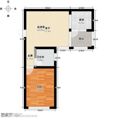 木里小镇1室0厅1卫1厨42.25㎡户型图