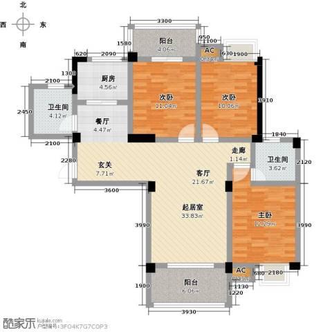 御景华府3室0厅2卫1厨120.00㎡户型图