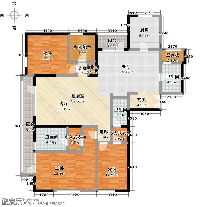 招商钻石山240.00㎡A01 3-7层 奇数层户型4室2厅3卫