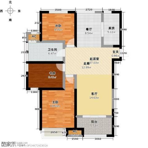 国耀上河城3室0厅1卫1厨119.00㎡户型图