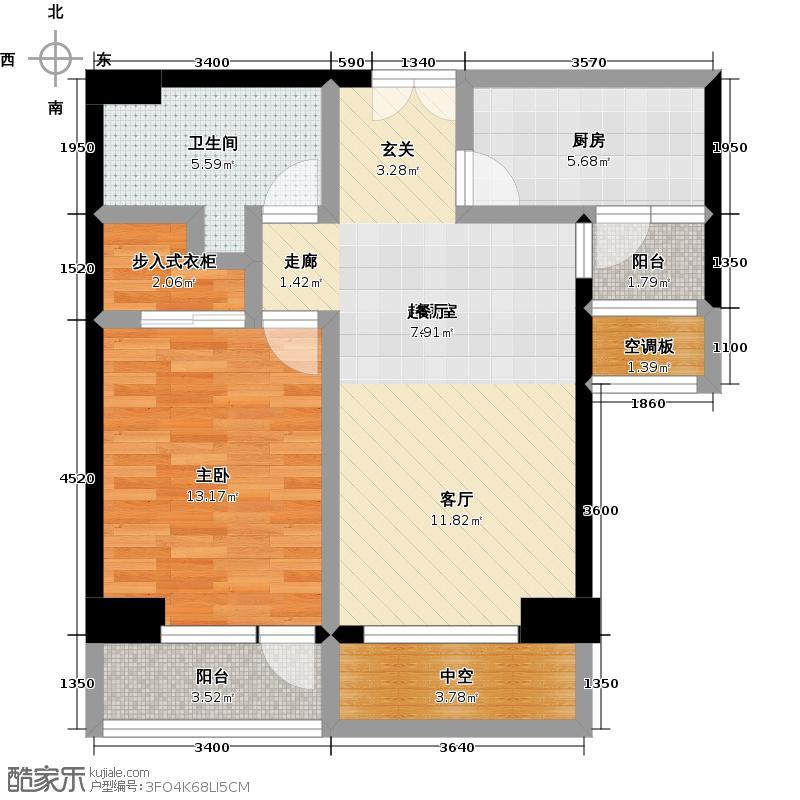 招商钻石山82.00㎡A03 6-14层 奇数层户型