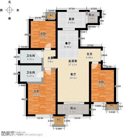 万通生态城新新家园3室0厅2卫1厨143.00㎡户型图