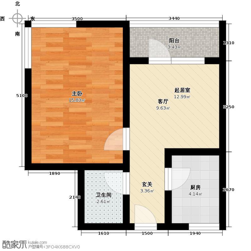 富东花园87.00㎡富东花园87.00㎡2室2厅1卫户型2室2厅1卫