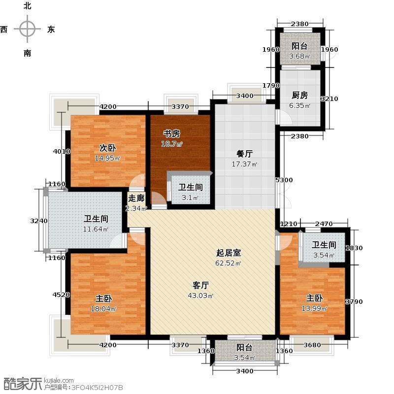 海河大道宽景公寓12号楼2门标准01户型