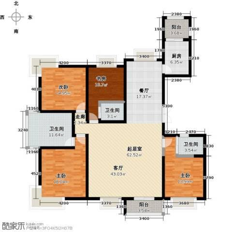 海河大道宽景公寓4室0厅3卫1厨215.00㎡户型图