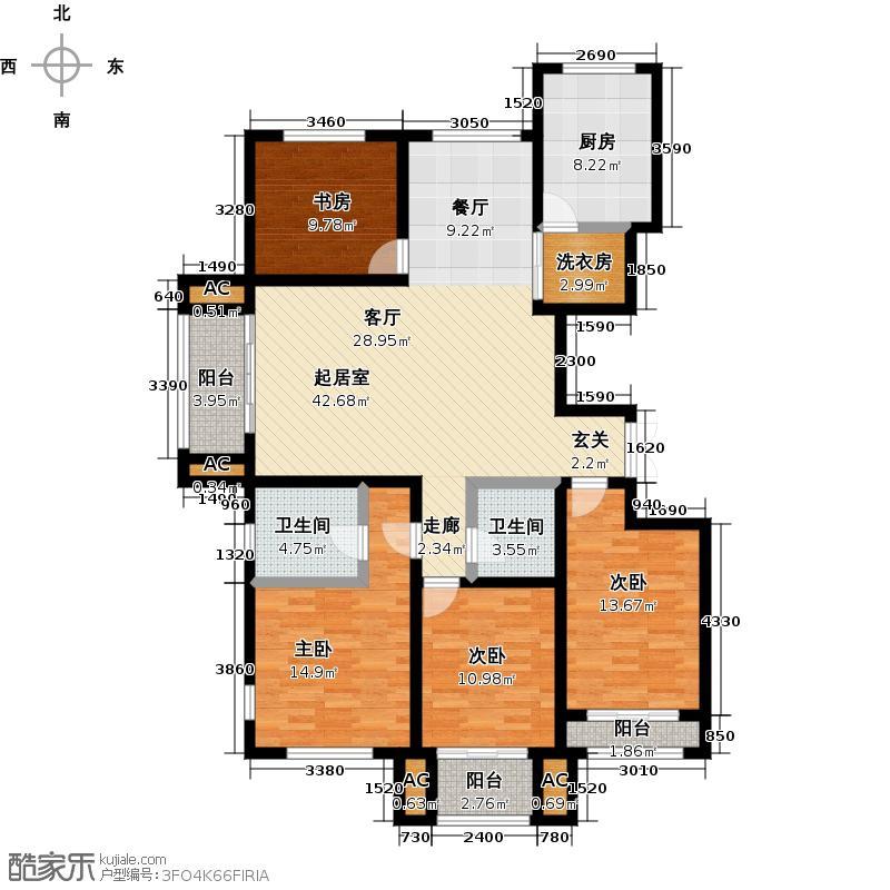 伟东幸福之城143.00㎡二批F户型2室2厅1卫