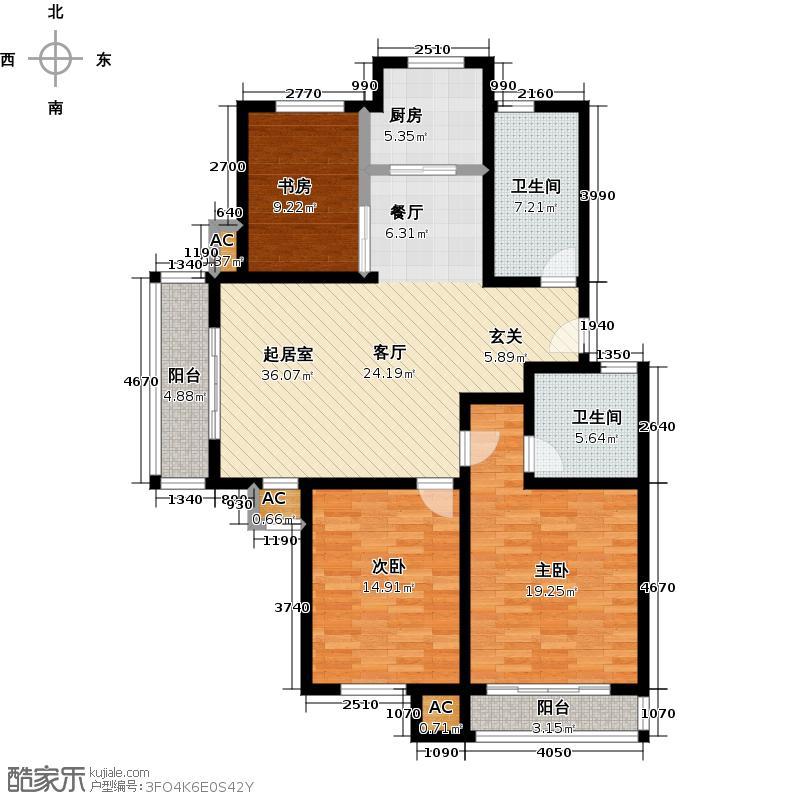 澜雀丽舍124.00㎡澜雀丽舍124.00㎡3室2厅2卫户型3室2厅2卫