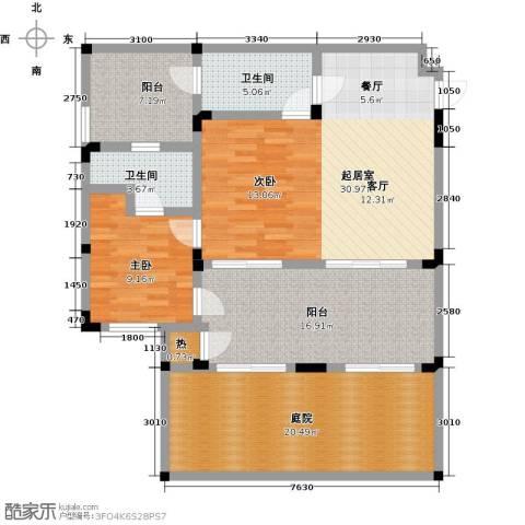 隆鑫花漾的山谷三期1室0厅2卫0厨94.19㎡户型图