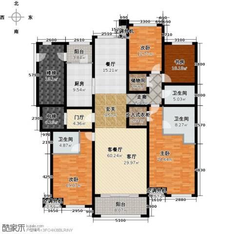 华润公元九里4室1厅3卫1厨219.00㎡户型图