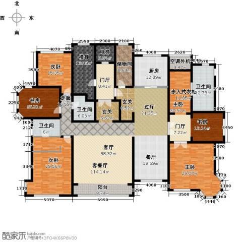 华润公元九里5室1厅3卫1厨342.00㎡户型图