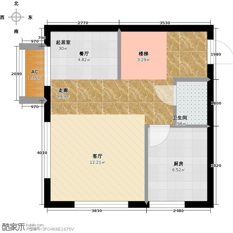 林肯公寓F首层平面图下户型